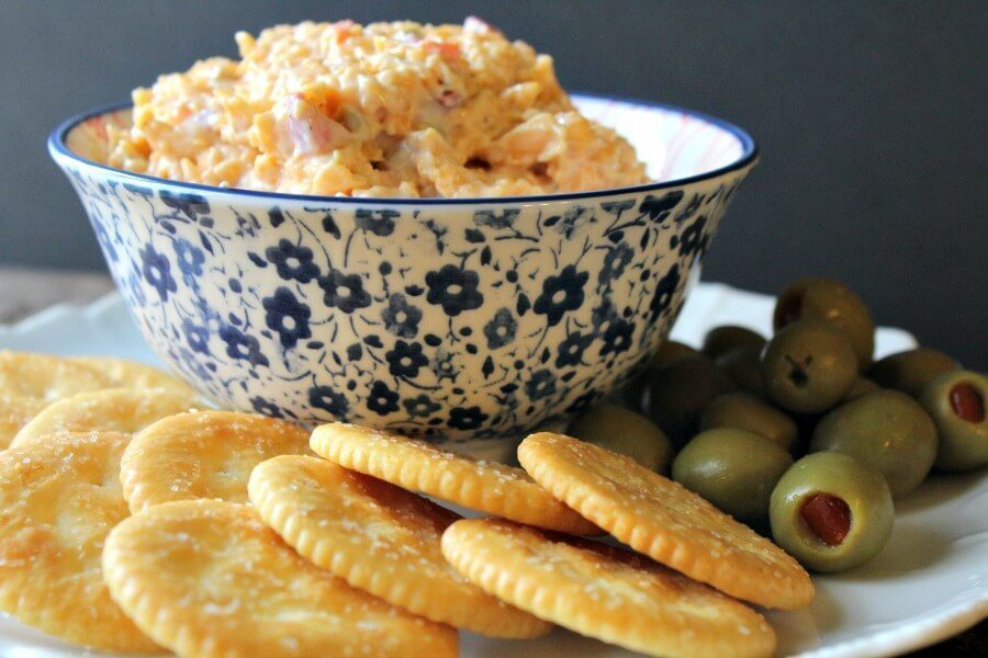 Do you love your Southern Pimento Cheese sharp and savory or sweet and creamy? Savory Cheddar Pimento Cheese. You have to try our twist on this classic Southern dish! #Southernrecipe #pimentocheese