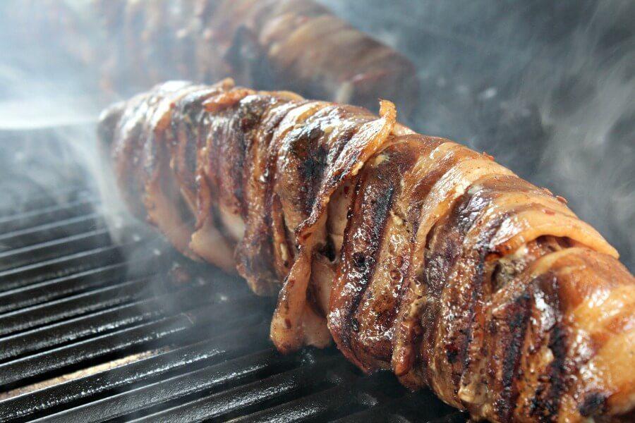 Stuffed Pork Loin on the grill