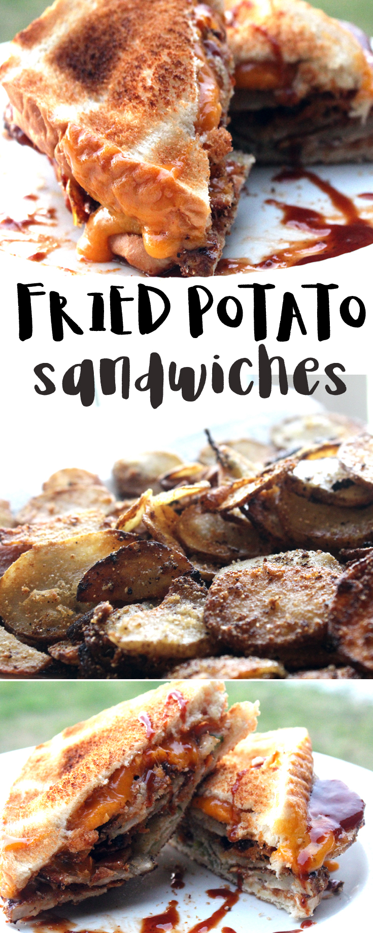 Fried Potatoes on a Sandwich