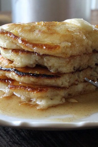 Best Pancakes Ever with Honey Cinnamon Syrup