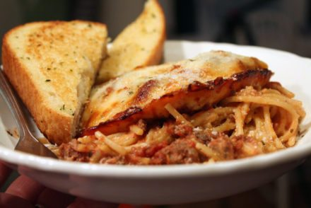 Wanna make everyone happy? Our Easy Spaghetti Casserole is your answer. Pasta, cream cheese & sauce topped with gooey cheese? Yeah, this is good.