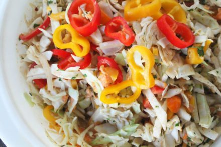 Fresh & colorful, this spicy and crunchy Jamaican Slaw Recipe is a flavor-packed side dish. Sweet and bright peppers with healthy cabbage.