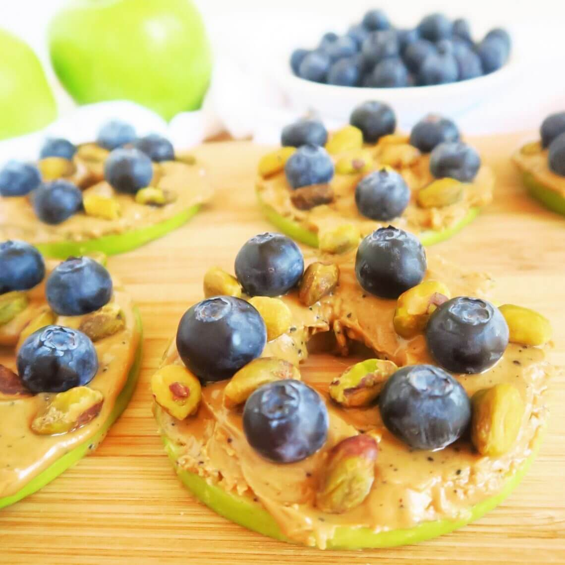 Apple Blueberry Sandwiches by Wholesum Yum Are your kids eating everything in sight? Our list of 17 Kid Approved Recipes will make you a hero. Tasty snacks and more. Yum!
