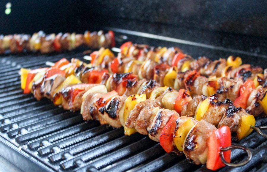 Hawaiian Grilled Pork Kabobs