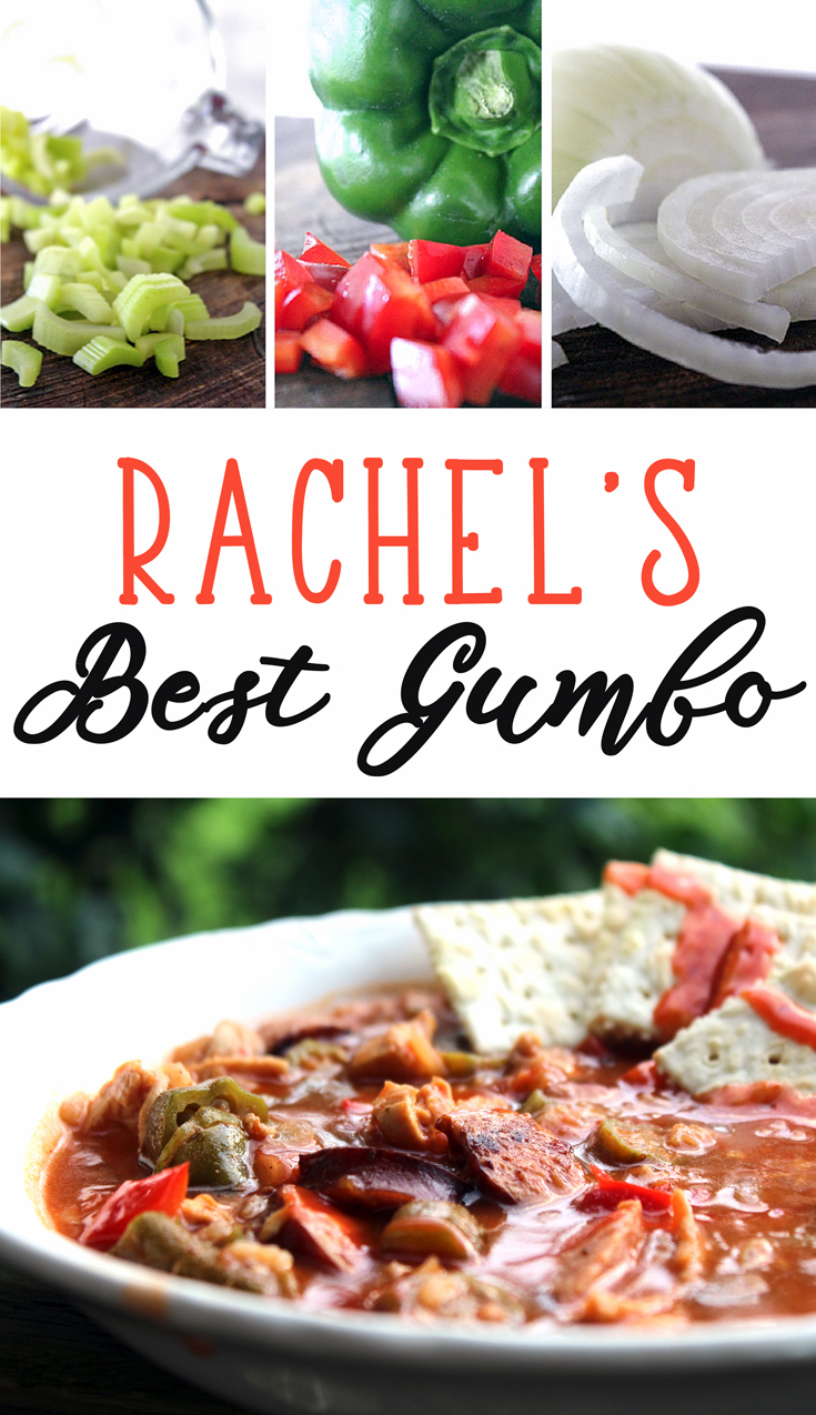 Rachel's Best Chicken and Sausage Gumboe is full of chicken, smoked sausage, okra, and all the necessary gumbo veggies. The magic? In the roux. Get our very best recipe here.