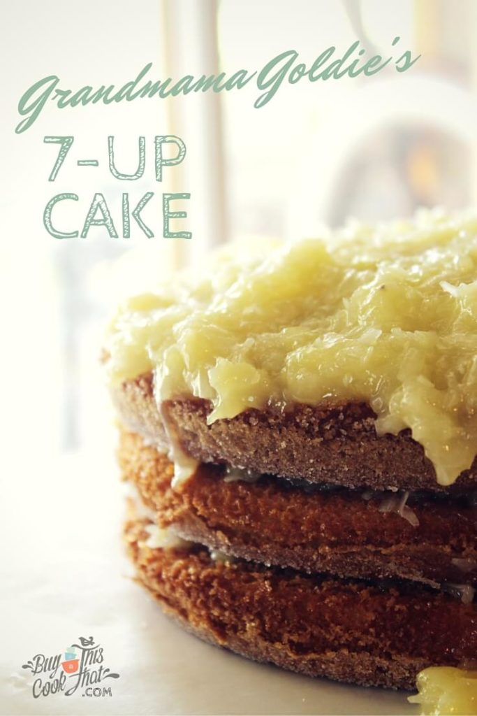 My grandmother's 7-Up Cake is a favorite dessert from my childhood. I can still remember the smell of it baking. Ours was almost (almost) as good. buythiscookthat.com/7-up-cake/ #dessert #family #recipe #cake