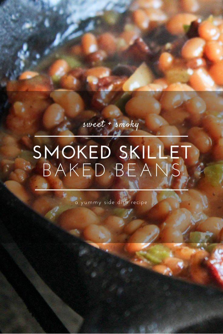 Smoked Baked Beans are the perfect side dish for your next barbecue, potluck or cookout.  #bakedbeans