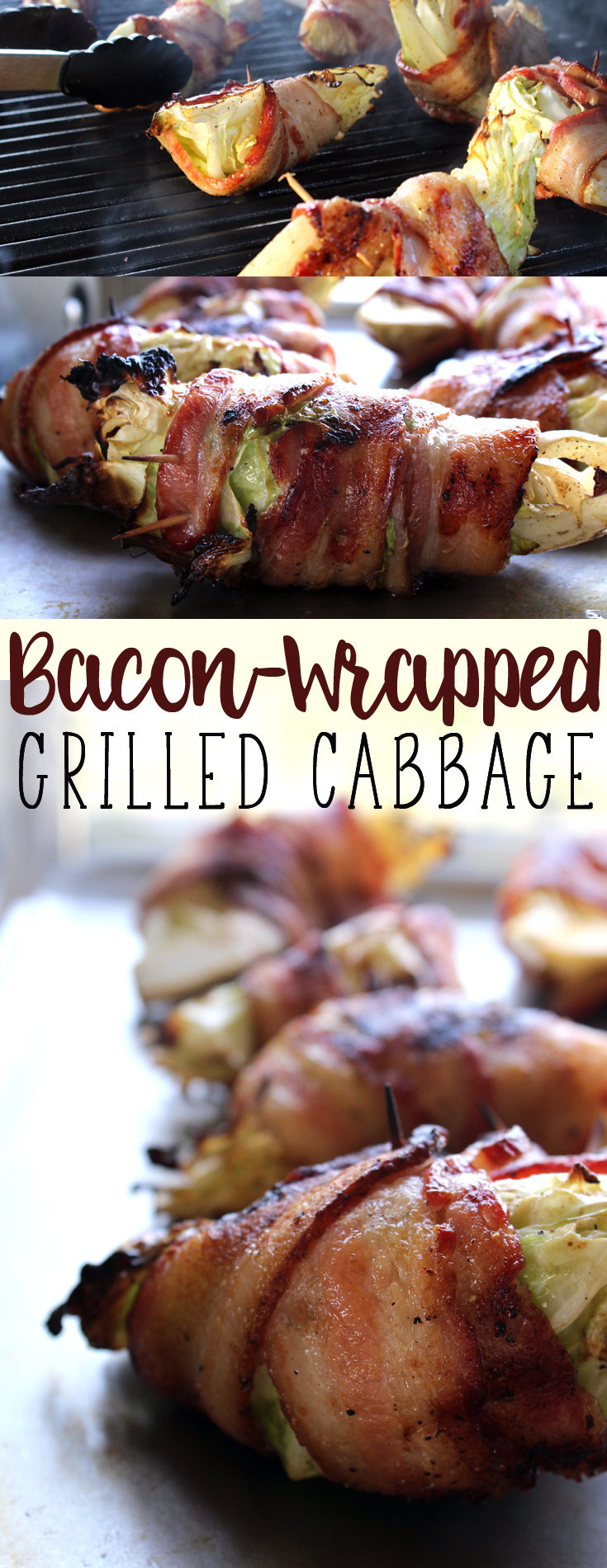 Bacon Wrapped Grilled Cabbage is one of my personal favorite (and easy) all time grilling recipes. The flavor is amazing. #grilledcabbage