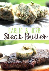 Garlic Herb Steak Butter is the perfect topping for a juicy grilled steak.