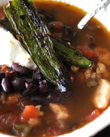 Southwestern Black Bean Soup with Roasted Jalapenos   Buy This Cook That