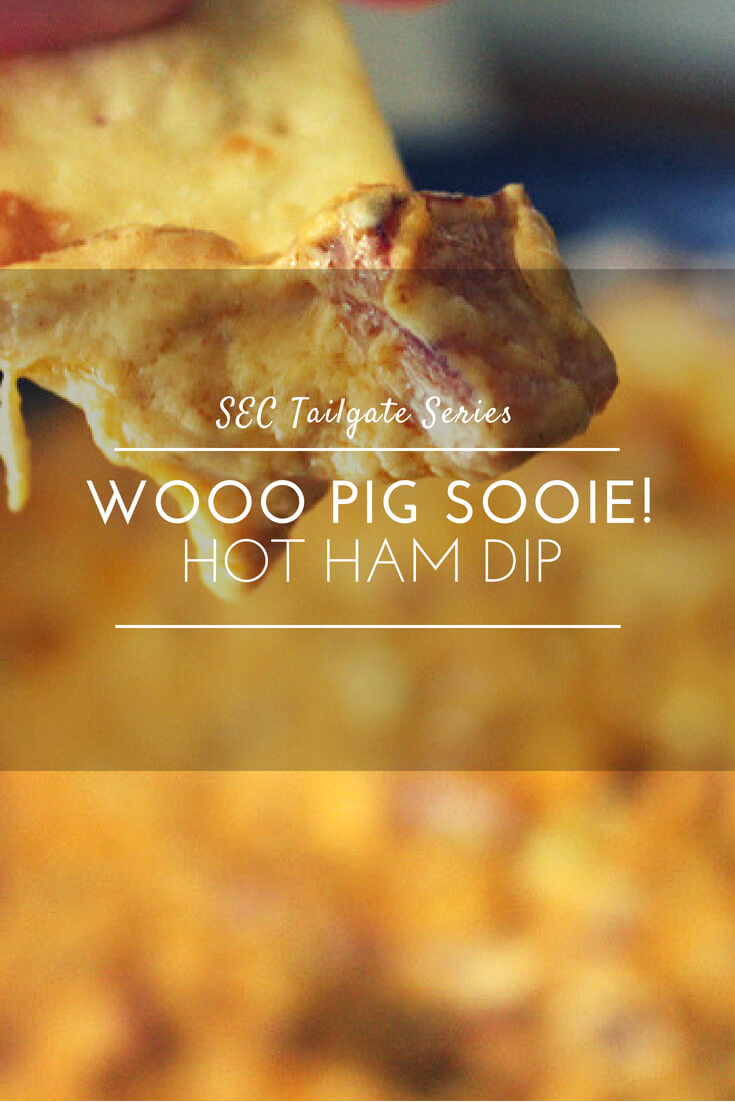 Football time is here, and so is this awesome recipe for Hot Ham Dip. Or as we like to call it