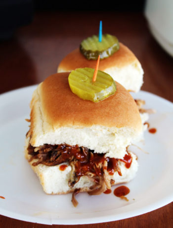These BBQ Pork Sliders are served with a sweet heat homemade Tiger Sauce and of course, a signature dill pickle. Your Auburn Tailgate will be the ultimate party zone on Saturday.