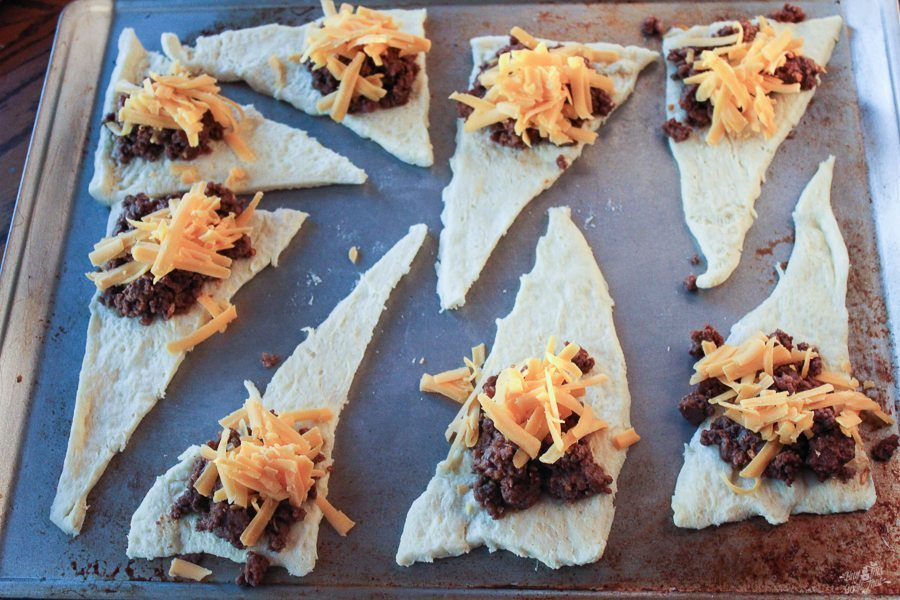 Four ingredients, folks. Don't you love hearing that? Taco Crescent Rolls are perfect for busy nights or a weekend snack.