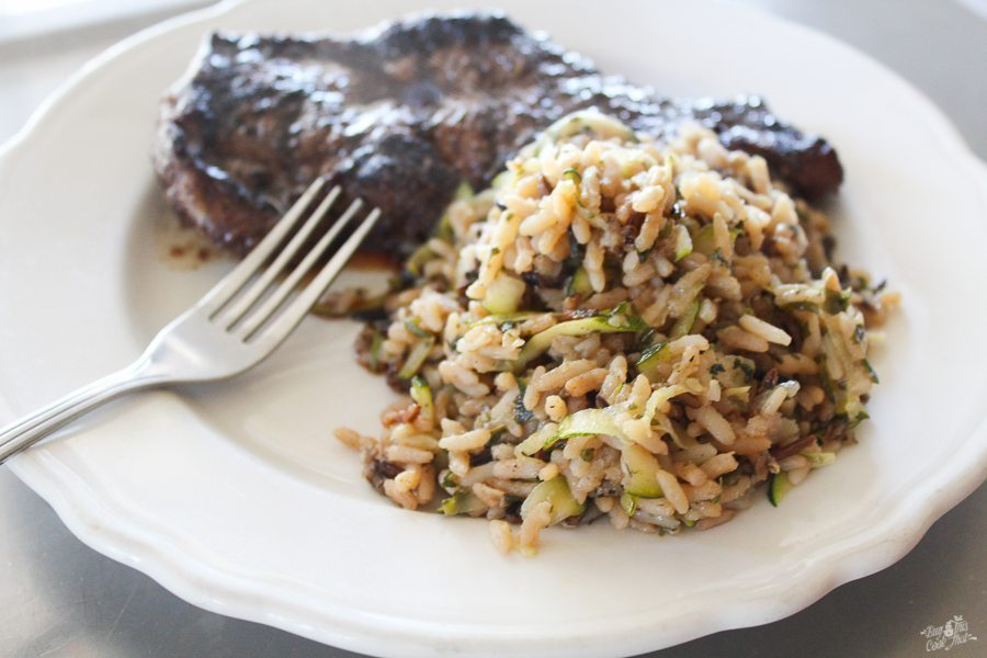 Simple zucchini wild rice side dish recipe buy this cook for Rice side dishes for fish
