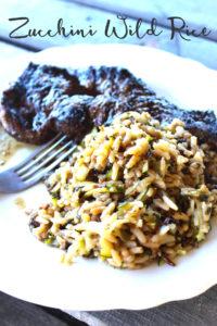 Simple + easy Zucchini Wild Rice recipe