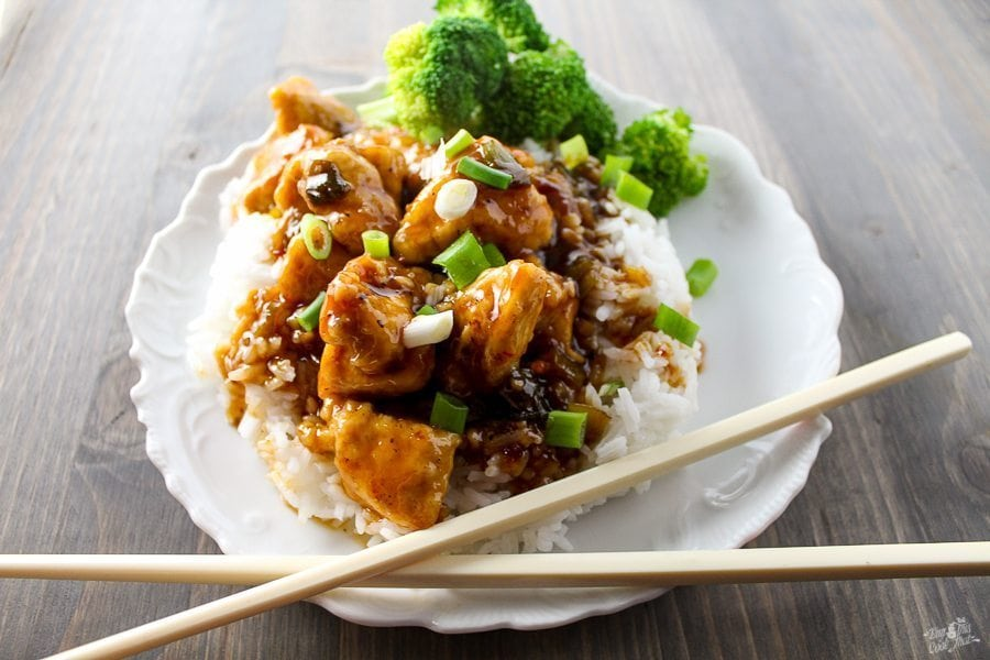 Sweet, tangy and spicy sauce over perfectly tender bites of chicken? Asian Sticky Chicken is so easy to make at home.(Better than take-out, by far!)