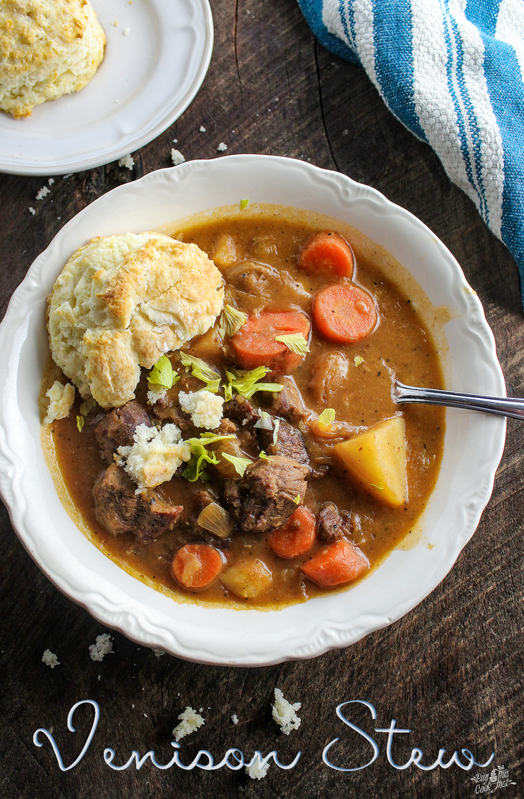 When your hubby hands you deer meat, make Venison Stew. I am proud of this recipe. The meal, the animal, and the lifestyle of West Tennessee. #venison #deer #stew #soup #fall #hunting #Tennessee, #Southern