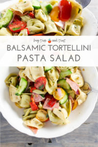 Balsamic Tortellini Pasta Salad