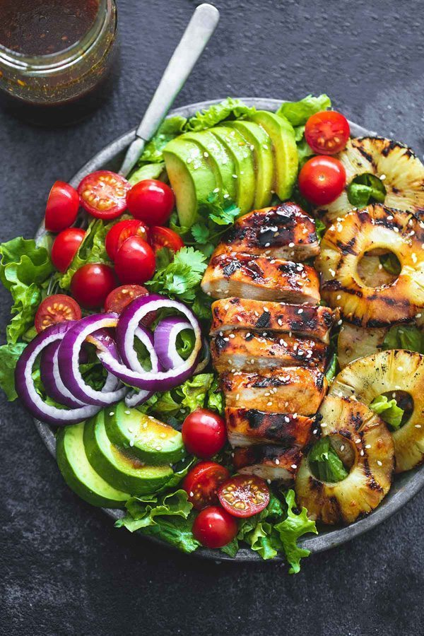 Grilled Teriyaki Chicken Salad | Delicious Salads That Don't Suck