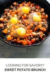 Looking for a savory Sweet Potato Recipe? Try our Sweet Potato Sausage Brunch.