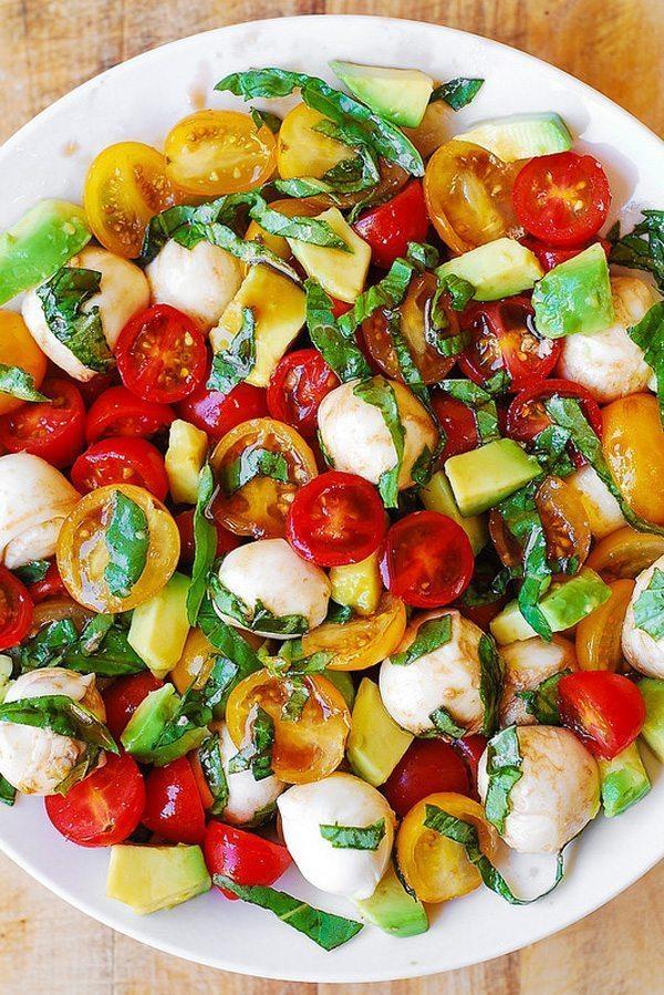 Tomato Basil Avocado Salad   Delicious Salads That Don't Suck