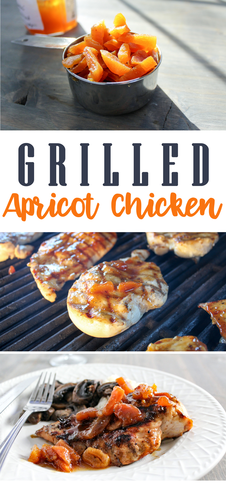 Grilled Apricot Chicken with thick, tangy sauce with apricot preserves, citrus, savory spicy flavors. Brush over chicken breasts. Grill to perfection.