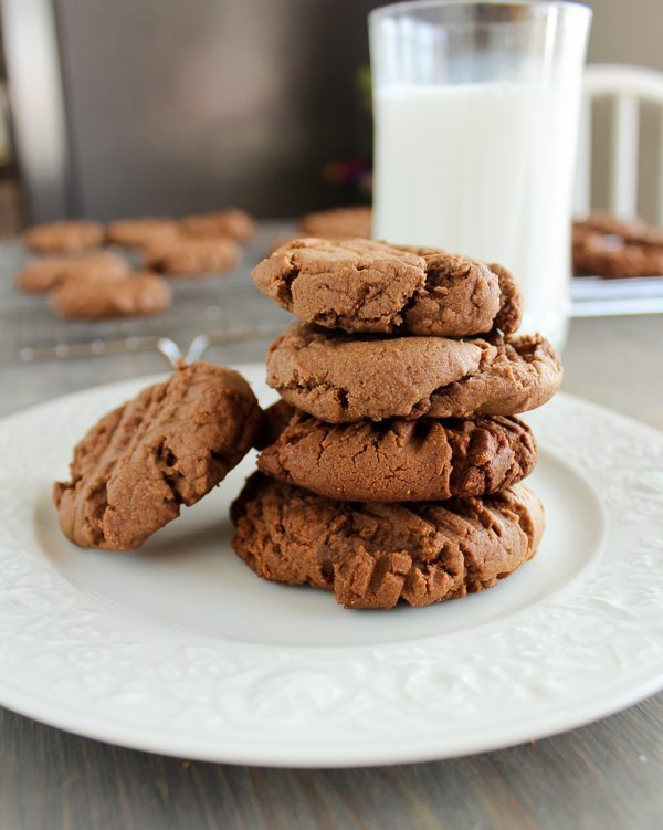 "These delicious Peanut Butter Cocoa Cookies are so simple to make. Totally worth the little bit of effort to see the ""YAY COOKIES!"" look from your family :)"