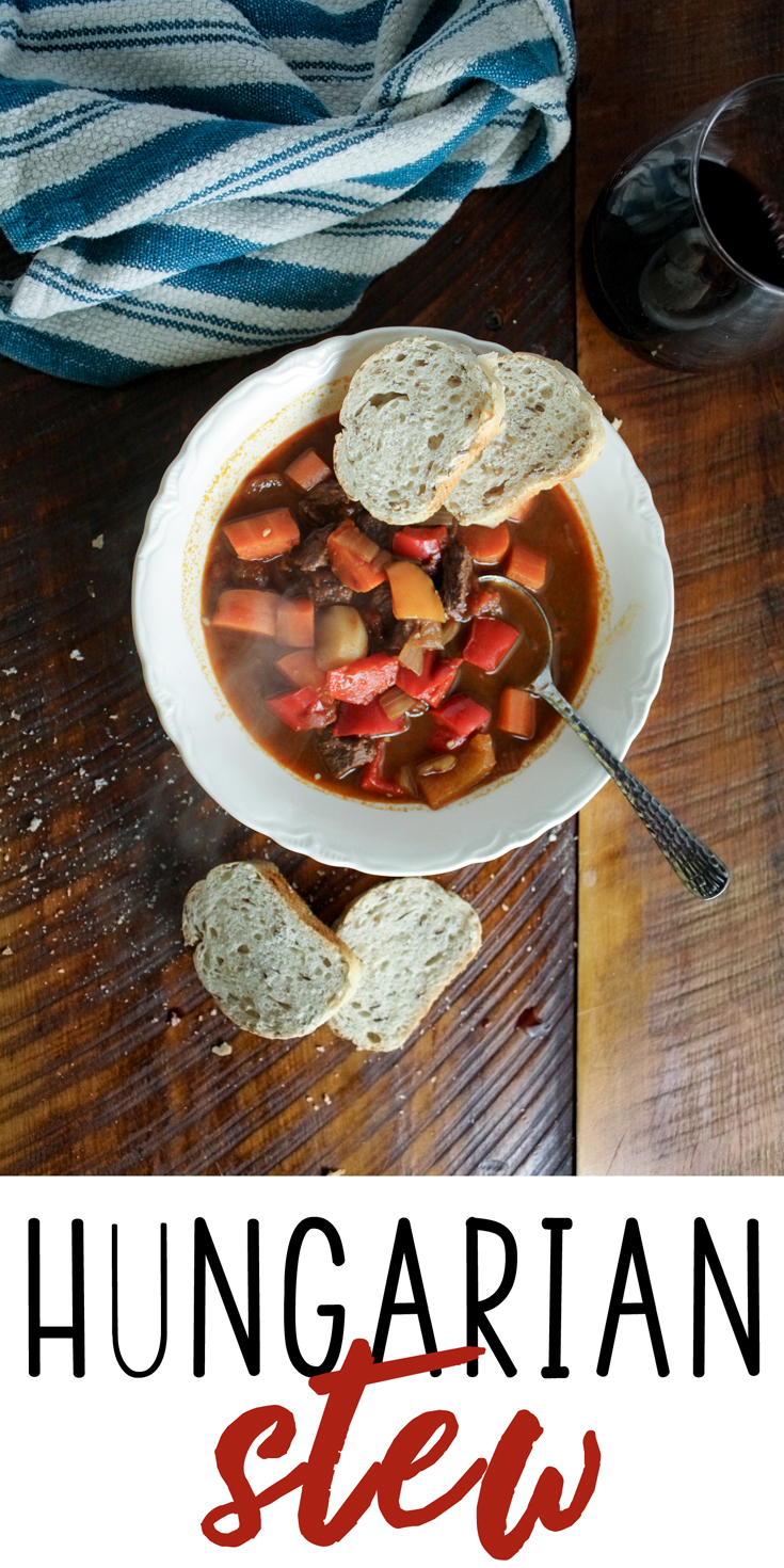 The meal I have been craving for over a decade.  Hungarian Stew!  Hearty and savory comfort food, perfect with a glass of wine and your favorite bread.