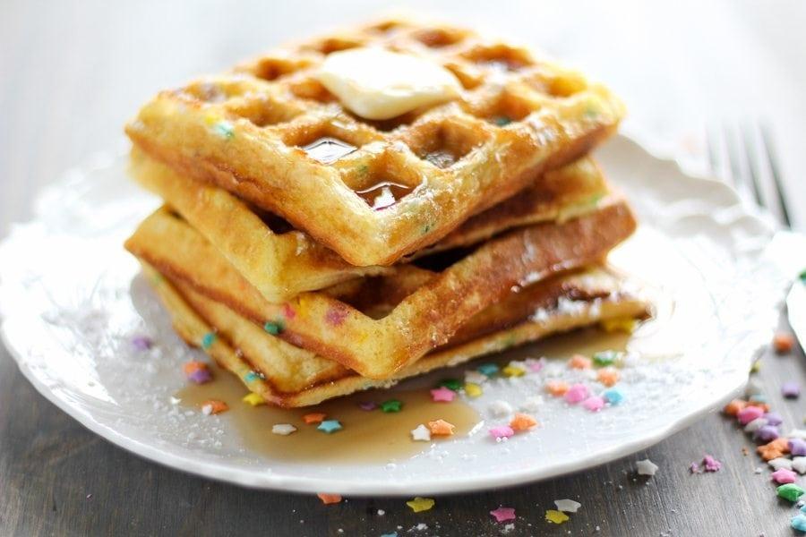 Funfetti Cake Waffles