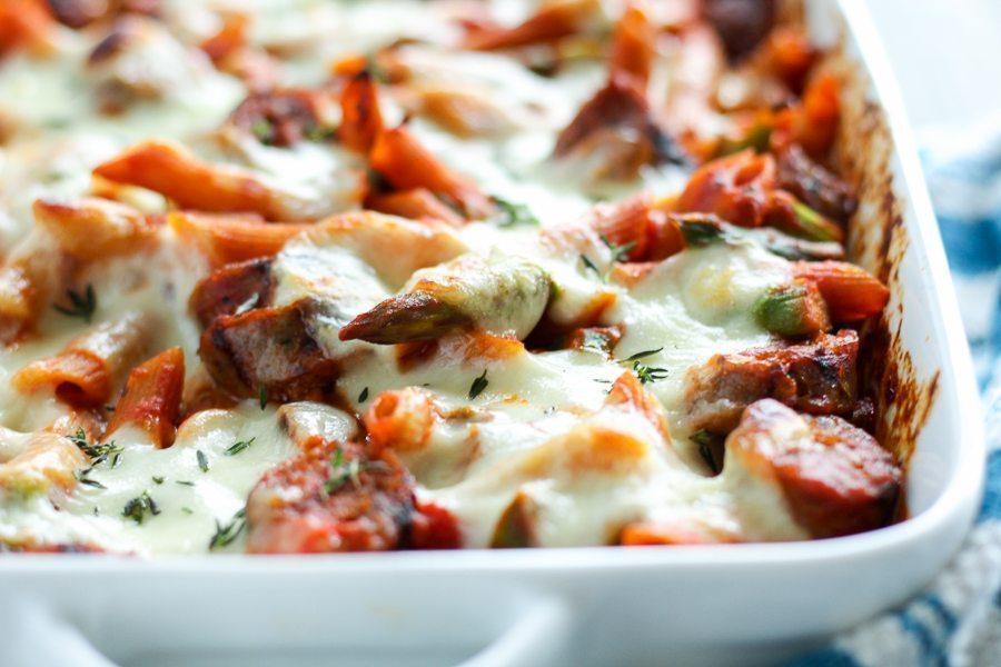 Sausage Asparagus Pasta Bake