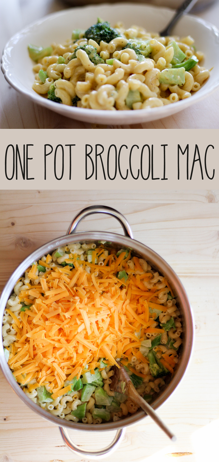 One Pot Broccoli Mac and Cheese is an easy fuss-free recipe with loads of cheddar cheese, macaroni pasta, and broccoli. Perfect for meatless meals or a side dish.  #broccolimacandcheese