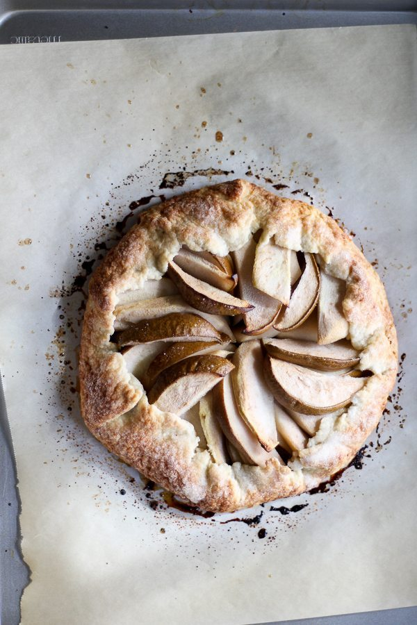 Memorize how to make this. Seriously, just make some basic notes and you will forever have a go-to dessert recipe. It is simple. It is beautiful. It is delicious. This Rustic Pear Galette recipe is my new fave.