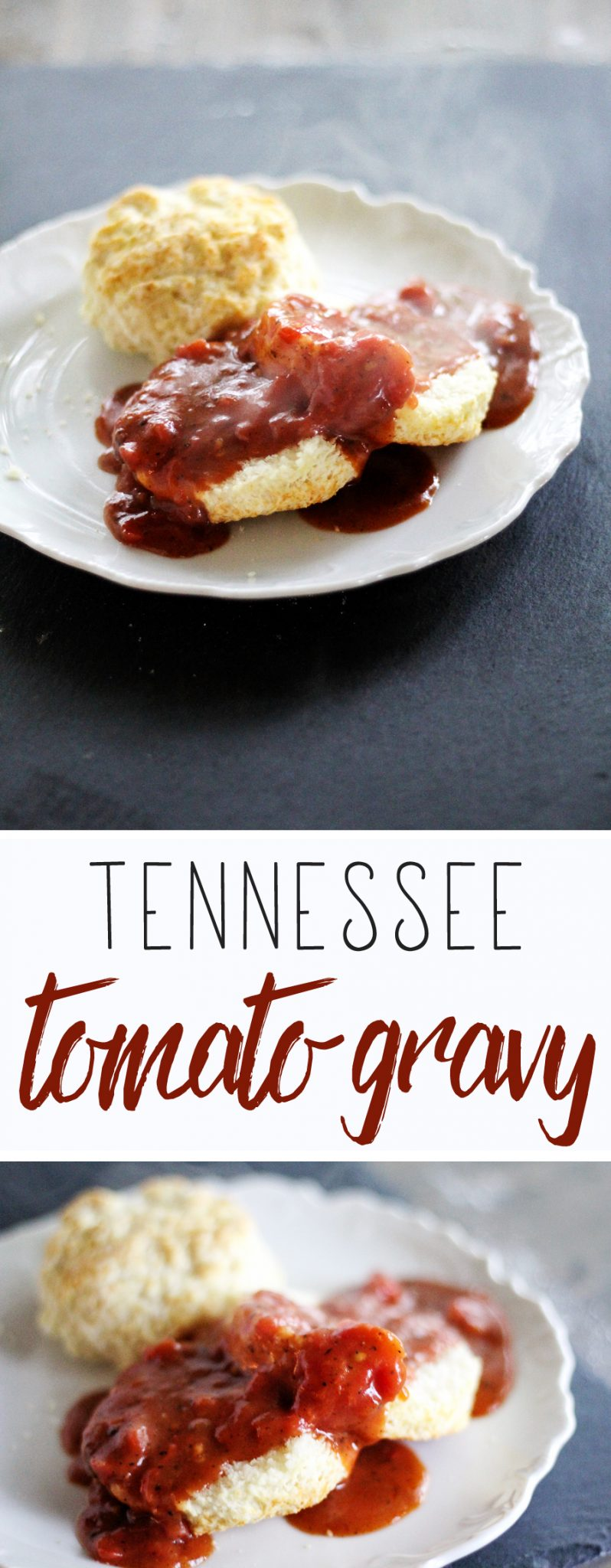 This recipe was adapted from my father in law's famous Tomato Gravy. Hope you love it!