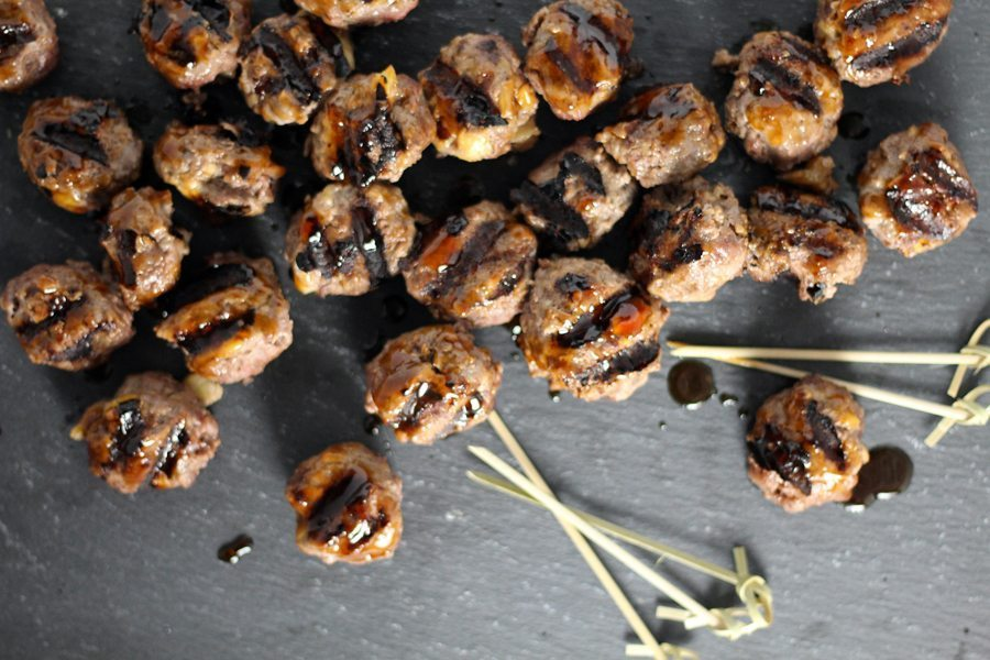 Grilled Pineapple Teriyaki Meatballs. This recipe is perfect for parties and cookouts. Salty and tangy teriyaki POW with a little sweet pineapple mixed in.