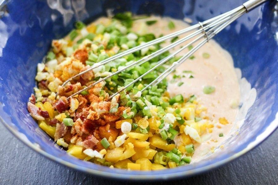 how to make potato salad sauce