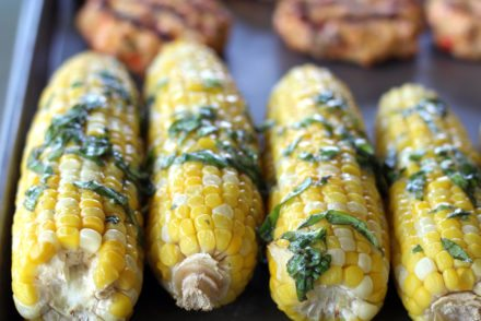 Basil Butter Sweet Corn