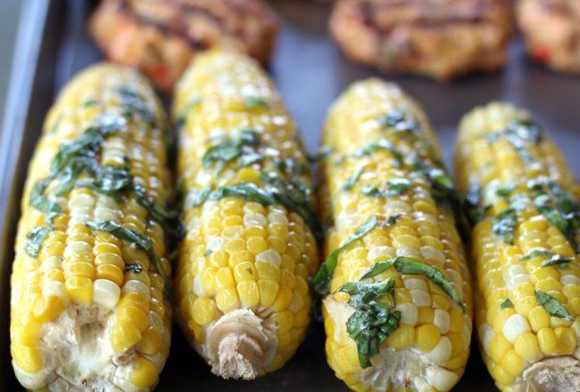 Basil Butter Sweet Corn