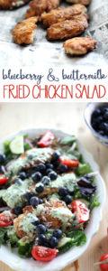 Blueberry and Buttermilk Fried Chicken Salad