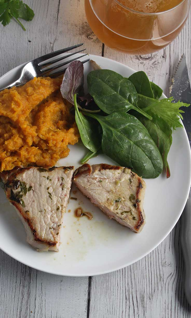 Weeknight Dinner Recipes Easy Cilantro Lime Pork Chops by Cookin Chat