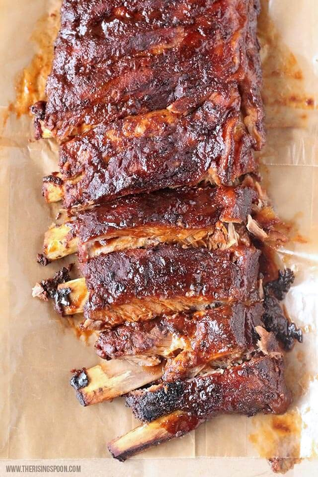 Weeknight Dinner Recipes Crockpot BBQ Ribs from The Rising Spoon