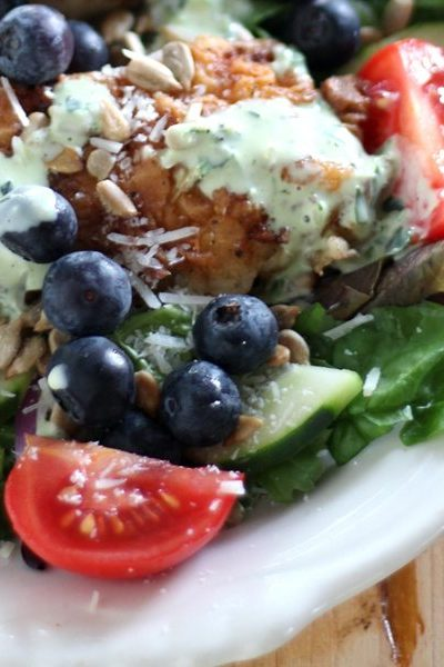 Blueberry and Buttermilk Fried Chicken Salad