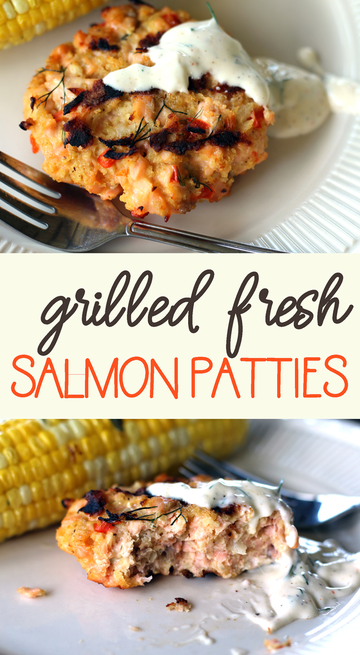 Grilled Fresh Salmon Patties with Lemon Dill Mayo | Buy ...