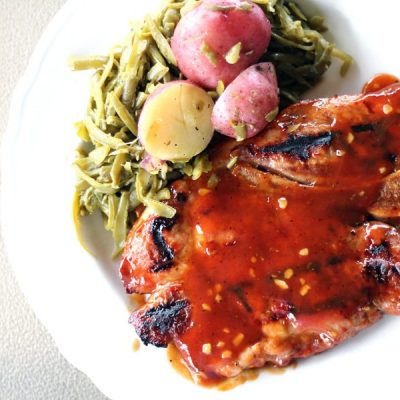 Honey Bourbon Pork Steaks