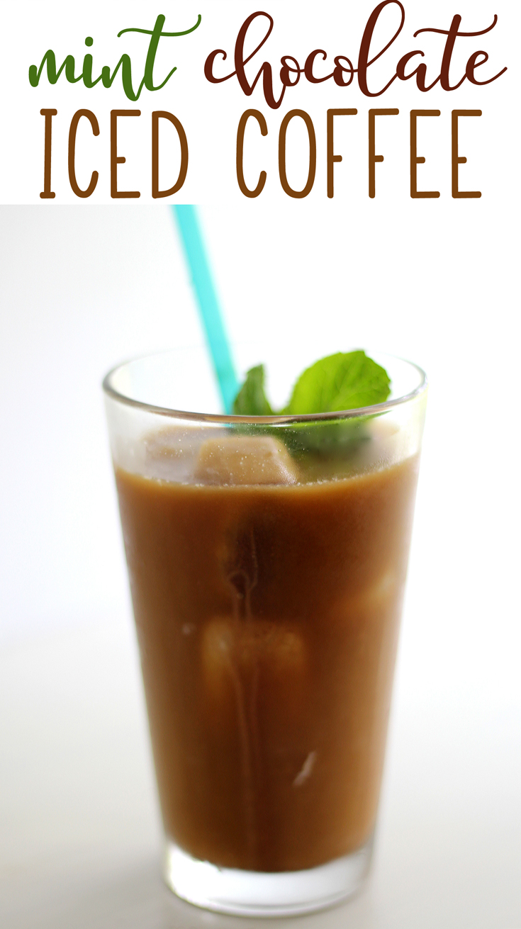 Cold Brewed Mint Chocolate Iced Coffee | Buy This Cook That