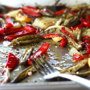 Okra Peppers and Vidalia