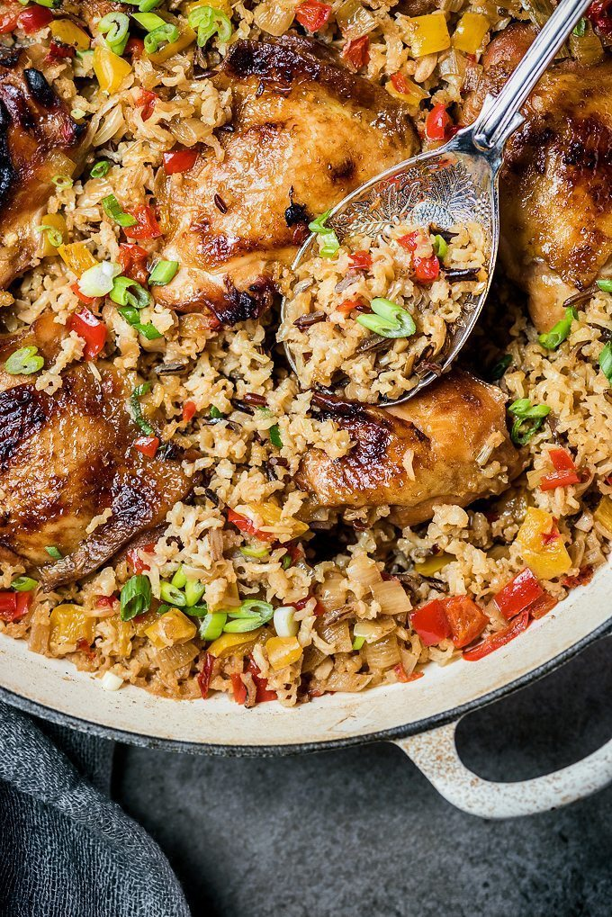 Weeknight Dinner Recipes One Pot Chinese Chicken and Rice by Super Golden Bakes
