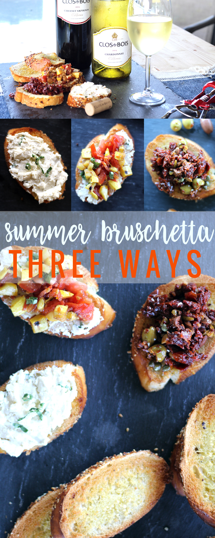 Have a summer afternoon to relax and unwind with bruschetta and wine? We created three recipe ideas for summer bruschetta perfect for special days.