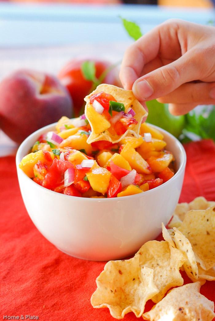 Authentic Peach Pico de Gallo | 21 Best Salsa Recipes