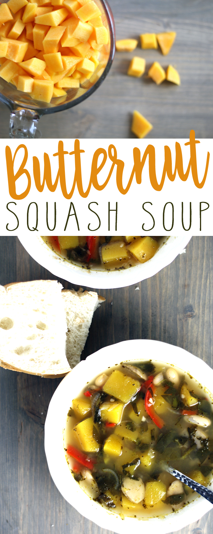 Butternut squash is such a lightly sweet vegetable. The color is bright and colorful and is the perfect addition to this simple and clean Butternut Squash Soup.
