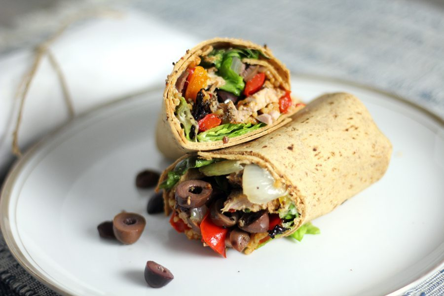 Spanish Style Pork Pepper Sandwich Wraps